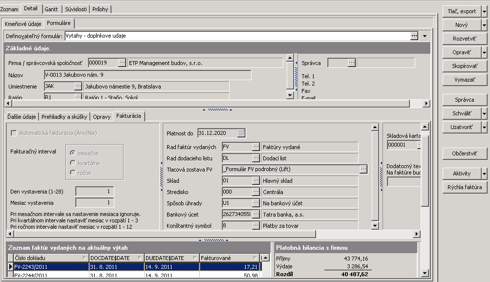 Informačný systém pre správu a servis výťahov